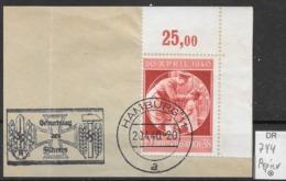 DR 1940  MiNr.  744 Auf Papier   O / Used  (L1285) - Germany
