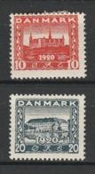 DANEMARK 1920-21 YT N° 122 Et 124 * - 1913-47 (Christian X)