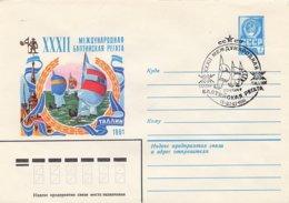 RUSSIA CCCP - Intero Postale - TALLINN  1981  -  VELA SAIL VOILE - Vela