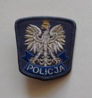 POLAND, BADGE EAGLE FROM A POLICE CAP EMBROIDERY AIGLE DE CASQUETTE BRODERIE - Polizia