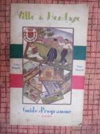 Ville De Hendaye Pays  Côte Basque Programme 1933 ( Table Des Marées - Jeux De Plage  Autre Encarts Publicitaire - Pays Basque