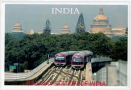 INDIA    TRAIN- ZUG- TREIN- TRENI- GARE- BAHNHOF- STATION- STAZIONI    2 SCAN  (NUOVA) - Trains