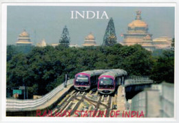 INDIA    TRAIN- ZUG- TREIN- TRENI- GARE- BAHNHOF- STATION- STAZIONI    2 SCAN  (NUOVA) - Eisenbahnen