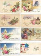 """Lot De 40 Cartes Postales De Voeux """" Bonne Année, Nouvel An, Anniversaire . . . """" - Toutes Scannées - Otros"""