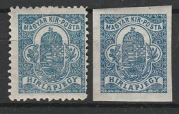 HONGRIE JOURNAUX 1920-22 YT N° 12 * - Newspapers