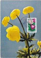 """CM: FRANCE: FLORE: """"Dites-le Avec Des Fleurs"""" LA PIVOINE, Symbolise LA GENEROSITE 1er Jour 10.02.2012 N° 666 - 2010-..."""