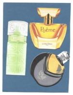 LOT 3 CARTES Parfumées  - LANCOME - Poême, Magie Noire, Ô - Modern (from 1961)