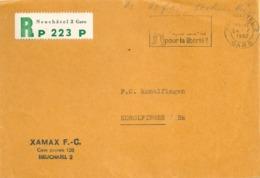 """R PP Briefvs  """"Xamax FC, Neuchâtel""""          1962 - Switzerland"""