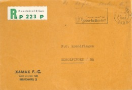 "R PP Briefvs  ""Xamax FC, Neuchâtel""          1962 - Svizzera"