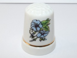 Dé à Coudre Fleur Bleue - Ditali Da Cucito