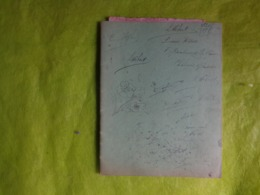 Cahier Manuscrit Militaria ???avec Des Chansons -des Recits -anecdote-caricature - Manuscrits