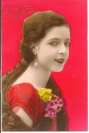 L80A006 - Bonne Année - Portrait De Jeune Femme  - ARP N°5713 - New Year