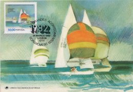 PORTOGALLO - Maximum - 1982  LISBONA  -  CAMPIONATO DEL MONDO CLASSE470 - Vela