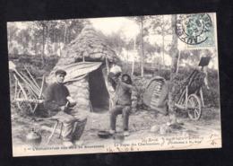 RARE - CPA - 89 L EXPLOITATION DES BOIS EN BOURGOGNE - LE REPAS DES CHARBONNIERS - France