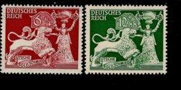 Deutsches Reich 816 - 817 Goldschmiedekunst MNH Postfrisch ** Neuf - Deutschland