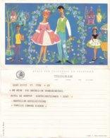 België - TELEGRAM - Regie Van Telegraaf En Telefoon - Gent 6-7-1963 - Ill. A. Marin - A 24 (NL) - Documents Of Postal Services