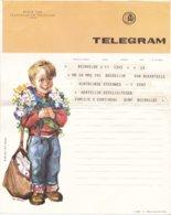 België - TELEGRAM - Regie Van Telegraaf En Telefoon - Gent 6-7-1963 - Ill. A.J. Binon - B 29 (NL) - Documents Of Postal Services