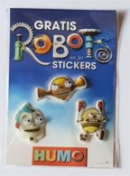 Gadget Humo Stickers Robots (Jeroom) - Publicité