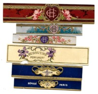 LOT De 6 étiquettes - Parfums Divers - Labels