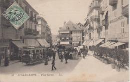 CPA Aix-les-Bains - Place Carnot (jolie Animation Avec Tram à Chevaux) - Aix Les Bains