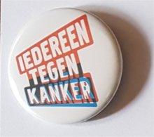 """Gadget: Badge """"Iedereen Tegen Kanker"""" - Publicité"""