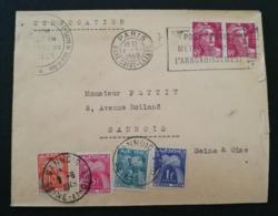 Enveloppe De Paris Pour Sannois.Taxée à L'arrivée - Marcophilie (Lettres)