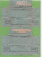 2 Télégrammes Modèle 701 1952/53 Origine ALGER Pour  Besançon - Télégraphes Et Téléphones