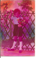L80A020 - Bonne Année - Enfant, Des Fleurs Plein Les Bras - PC N°2601 - New Year
