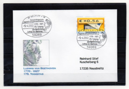 BRD, 2002, Brief (echt Gelaufen) Mit Michel ATM 5 Und Sonderstempel, 175. Todestag Ludwig V. Beethoven - [7] Federal Republic