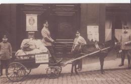 MILITAIRE CARTE PHOTO ATTELAGE LA POSTE ALLEMAND DEUTSCHE FELDPOST 1914 TRES ANIMÉES CPA BON ÉTAT - Guerre 1914-18