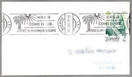 HAGA COMO EL SOL - PASE EL INVIERNO EN ALICANTE. Alicante 1979 - Otros