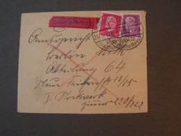 DR Brief Eilboten Aus Frankfurt Messestadt 1929 - Allemagne
