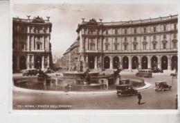Roma Piazza Dell' Esedra  Auto D'epoca 1937 Fotografica - Lugares Y Plazas