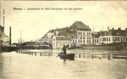 BELGIQUE MENIN VUE DES BASSINS APRES LES INONDATIONS DE 1894 - Menen