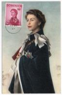 DOMINICA - QUEEN ELIZABETH II / ANNIGONI PORTRAIT / MAXIMUM CARD - Dominica