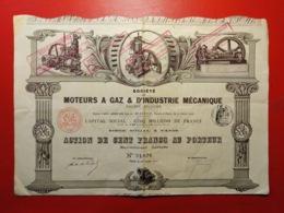 SOCIETE DE MOTEURS A GAZ & D'INDUSTRIE MECANIQUE 1912 - Industry