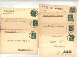 Lot 7 Carte Bucherzettel Cachet Mulhouse Sur Semeuse - Marcophilie (Lettres)