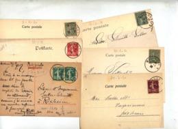 Lot 10 Carte Cachet Mulhouse Sur Semeuse - Storia Postale