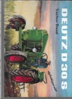 Caractéristiques Techniques Tracteur Diesel DEUTZ D 30 S Refroidi Par Air - Advertising