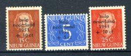 NL. NIEUW GUINEA 22/24 MH* 1953 - Watersnoodzegels - Nouvelle Guinée Néerlandaise