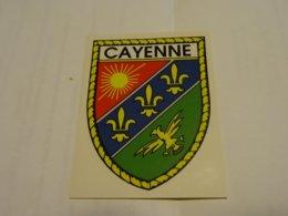 Blason écusson Adhésif Autocollant Sticher Coat Of Arms; Aufkleber Wappen Cayenne (Guyane) - Advertising