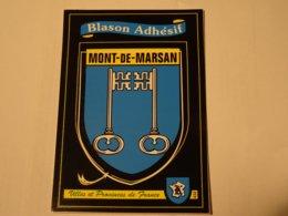 Blason écusson Adhésif Autocollant Sticher Coat Of Arms; Aufkleber Wappen Mont De Marsan - Obj. 'Remember Of'