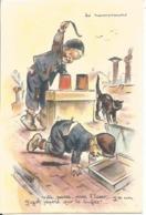 CPA LES RAMONEURS DE GERMAINE BOURET - 1952 - Chat Enfants - Bouret, Germaine