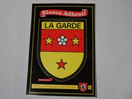 Blason écusson Adhésif Autocollant Sticher Coat Of Arms; Aufkleber Wappen La Garde (Var) - Obj. 'Remember Of'