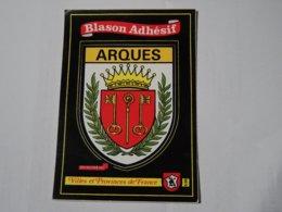 Blason écusson Adhésif Autocollant Sticher Coat Of Arms; Aufkleber Wappen Arques - Obj. 'Remember Of'