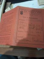 TESSERA DISOCCUPAZIONE MILANO ABBIGLIAMENTO 1940 1943  HG1476 - Vecchi Documenti