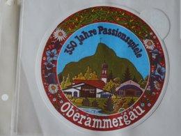 Logo Adhésif Autocollant Sticker Coat Of Arms; Aufkleber Oberamorgau - Obj. 'Remember Of'