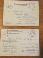 Lettre Stalag XIII B D 33 Et D 40 Cachets + Contenu - 1943 Et 1942 - Oorlog 40-45
