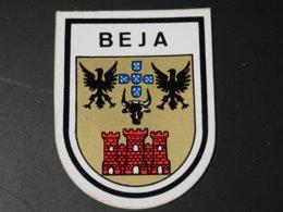 Blason écusson Adhésif Autocollant Sticker Coat Of Arms; Aufkleber Wappen Beja Portugal - Obj. 'Souvenir De'