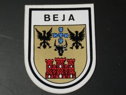 Blason écusson Adhésif Autocollant Sticker Coat Of Arms; Aufkleber Wappen Beja Portugal - Recordatorios